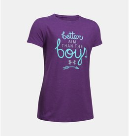 UNDER ARMOUR UNDER ARMOUR GIRL'S BETTER AIM TEE