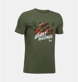 UNDER ARMOUR UNDER ARMOUR BOY'S BUCKS WORST NIGHTMARE TEE