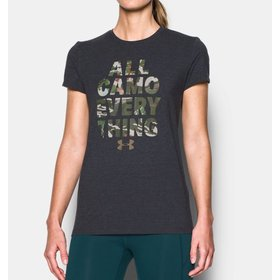 UNDER ARMOUR UNDER ARMOUR WOMEN'S ALL CAMO EVERYTHING TEE