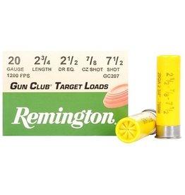 REMINGTON REMINGTON GUN CLUB TARGET LOADS 20 GA 2 3/4 #7.5 SHOT