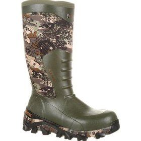 ROCKY CANADA ROCKY CANADA MEN'S CLAW WATERPROOF RUBBER CAMO HUNTING BOOTS