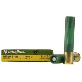 "REMINGTON REMINGTON 410 GA 2-1/2"" RIFLED SLUG 5 SHELLS"