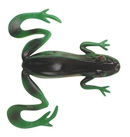 "BERKLEY BERKLEY POWERBAIT REALISTIX KICKER FROG 4/0 WIDE GAP HOOK TREE FROG 4"" 3CT"