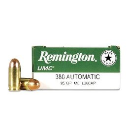 REMINGTON REMINGTON UMC 380 AUTOMATIC 95 GR FMJ 50 RDS