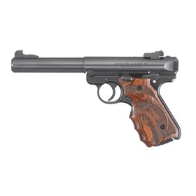RUGER RUGER MARK IV TARGET PISTOL LAMINATE GRIP 22 LR BLUED
