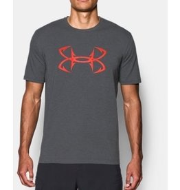 UNDER ARMOUR UNDER ARMOUR MEN'S FISH HOOK SPORTSTYLE SS T SHIRT GRAY