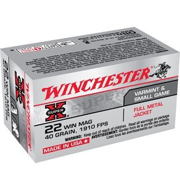 WINCHESTER WINCHESTER 22 WIN MAG 40 GR 1910 FPS FMJ 50 RDS