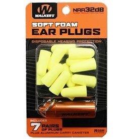 WALKER'S WALKER'S SOFT FOAM EAR PLUGS 7 PRS