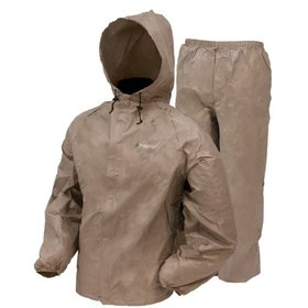 FROGG TOGGS FROGG TOGGS ULTRALITE RAIN SUIT KHAKI LARGE