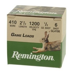REMINGTON REMINGTON GAME LOAD 410 BORE 2 1/2 1OZ SIZE 6