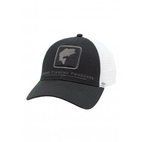 SIMMS FISHING SIMMS BASS ICON TRUCKER BLACK O/S