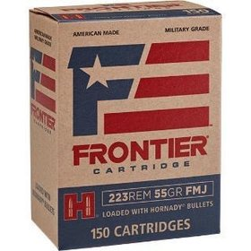 HORNADY HORNADY FRONTIER CARTRIDGE 223 REM 55 GR FMJ 150 RDS
