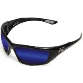 EDGE SAFETY GLASSES EDGE ROBSON BLACK/AP BLUE MIRROR LENS