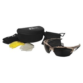 EDGE SAFETY GLASSES EDGE KHOR FOREST CAMO 3 LENS KIT