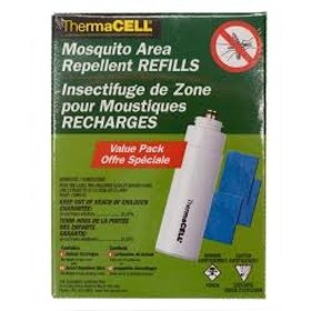 THERMACELL THERMACELL MOSQUITO AREA REPELLENT REFILLS 4 BUTANE AND 12 MATS