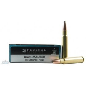 FEDERAL FEDERAL 8MM MAUSER 170GR HI-SHOK SP 20 RDS