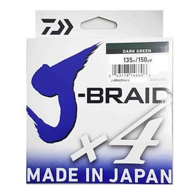 DAIWA DAIWA J-BRAID X4 65LB 135M DARK GREEN