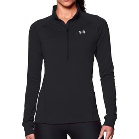 UNDER ARMOUR UNDER ARMOUR WOMEN'S TECH  1/2 ZIP BLACK