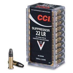 CCI CCI SUPPRESSOR 22 LR 45 GR 970 FPS 50 RDS