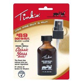 TINK'S TINK'S HOT SHOT #69 DOE-IN-RUT ESTROUS BUCK LURE GLASS BOTTLE 1 FL OZ