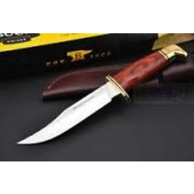 BUCK BUCK KNIVES SKINNER COCOBOLA DYMONWOOD HANDLE BRASS GUARD/BUTT