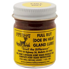 JAMES VALLEY COMPANY JAMES VALLEY FULL RUT (DOE IN HEAT GLAND LURE)  1 OZ. GEL
