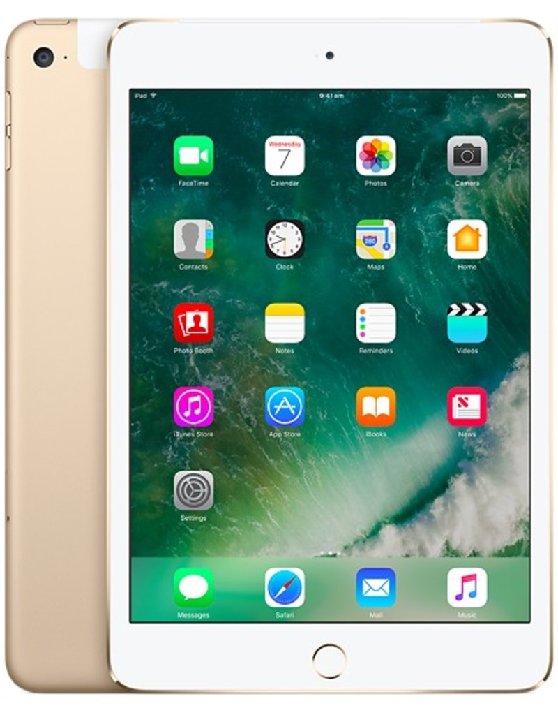 Apple iPad Mini 4 Wifi+Cellular, 128GB,Gold