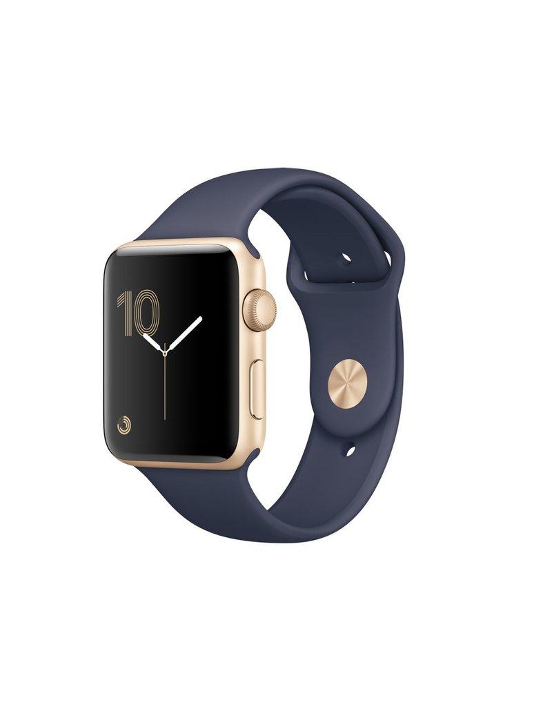 Apple Watch series 2, 42MM, Gold Aluminium, Midnight Blue Sport Band