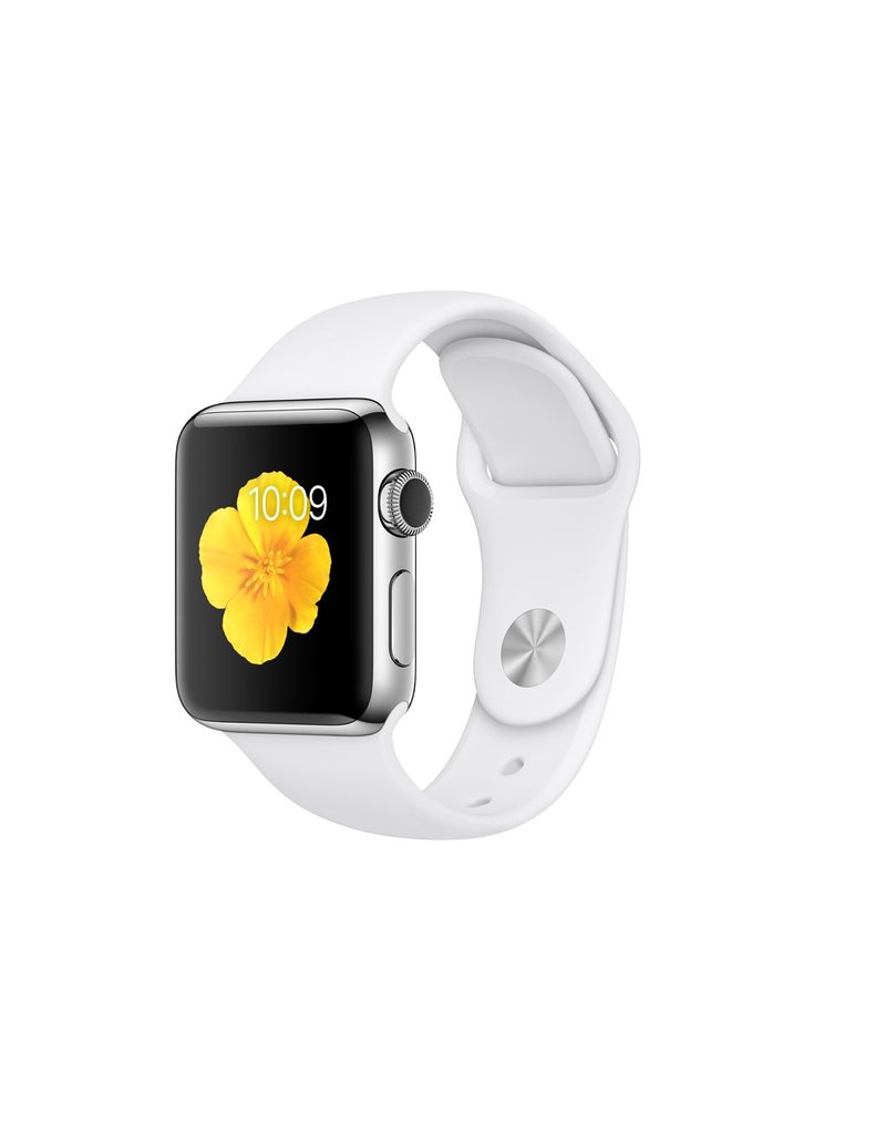 Apple Watch series 2, 38MM, Stainless Steel, Black Sport Band
