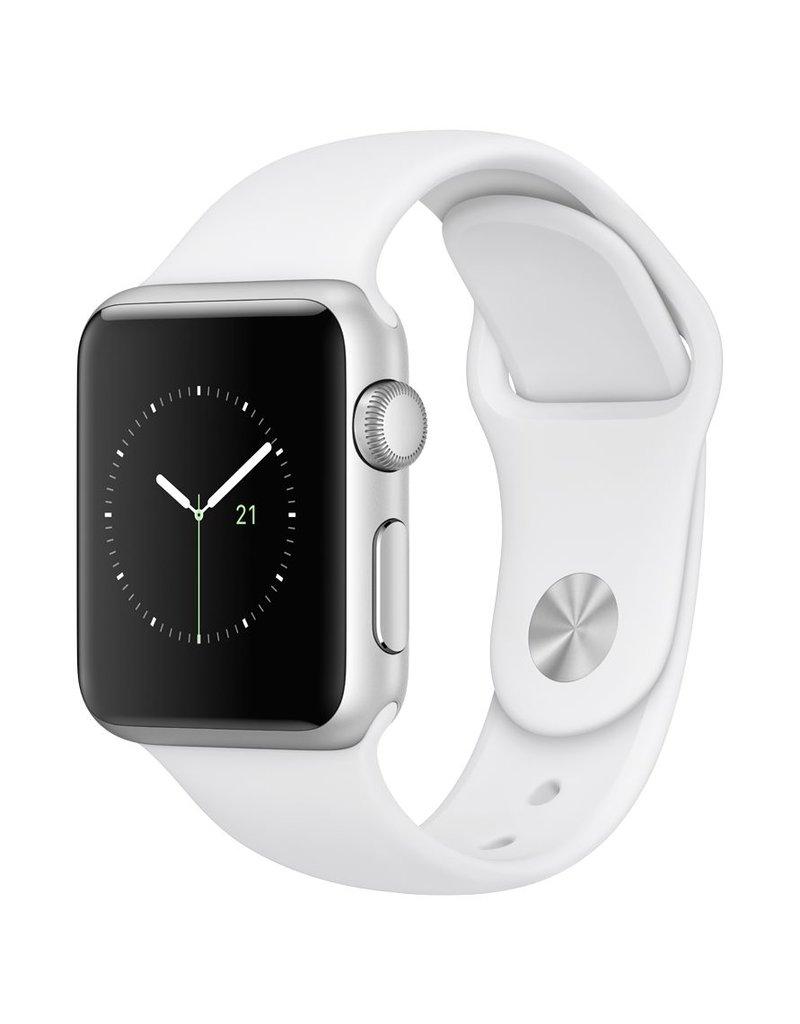 Apple Watch series 1, 38MM, Silver Aluminium, White Sport Band