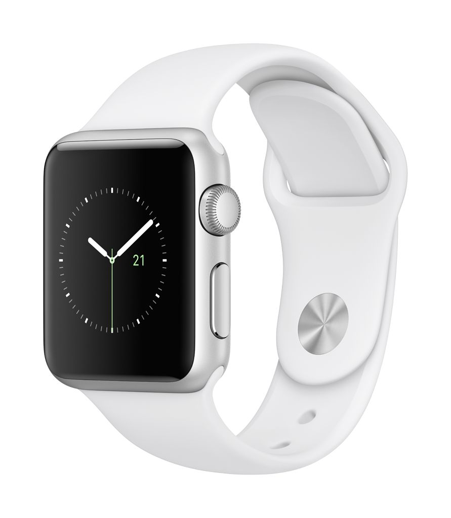 Apple Watch series 1, 38MM, Silver Aluminium, White Sport Band