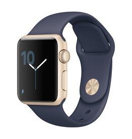 Apple Watch series 1, 38MM, Gold Aluminium, Midnight Blue Sport Band