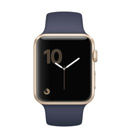 Apple Watch series 1, 42MM, Gold Aluminium, Midnight Blue Sport Band