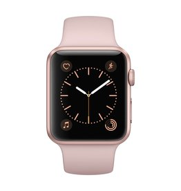 Apple Watch series 1, 42MM, Rose Gold Aluminium, Pink Sand Sport Band