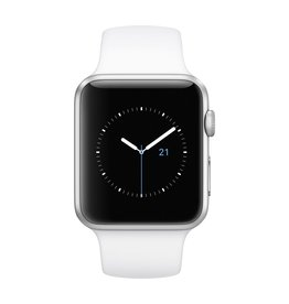 Apple Watch series 1, 42MM, Silver Aluminium, White Sport Band