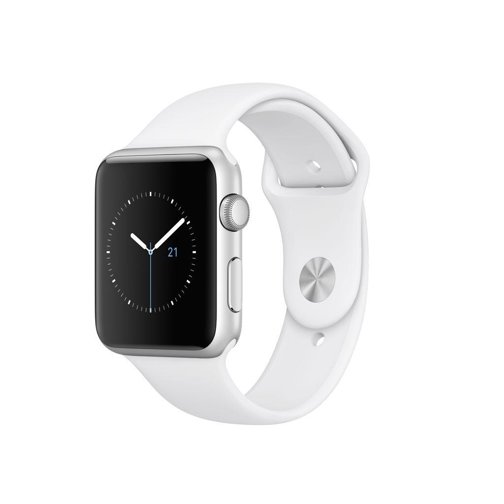 Apple Watch series 1, 42MM, Silver Aluminium, White Sport Band