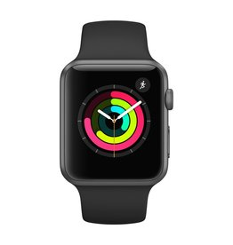 Apple Watch series 1, 42MM, Space Grey Aluminium, Black Sport Band