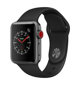 Apple Watch series 3 - 38MM - Space Gey Aluminium - Black Sport Band