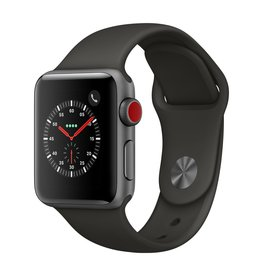 Apple Watch series 3 - 38MM - Space Grey Aluminium - Grey Sport Band