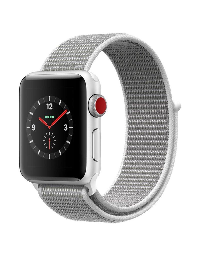Apple Watch series 3 - 38MM - Silver Aluminium - Seashell Sport Loop