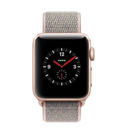 Apple Watch series 3 - 38MM - Gold Aluminium - Pink Sand Sport Loop