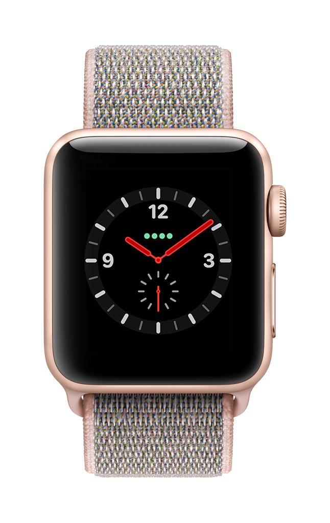 Apple Watch series 3 - 38MM - Gold Aluminium - Pink Sand Sport Loop