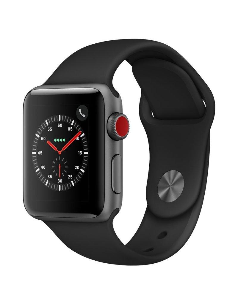 Apple Watch series 3 - 42MM - Space Grey Aluminium Case - Black Sports Band