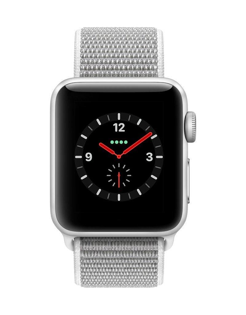 Apple Watch series 3 - 42MM - Silver  Grey Aluminium Case - Seashell Sport Loop