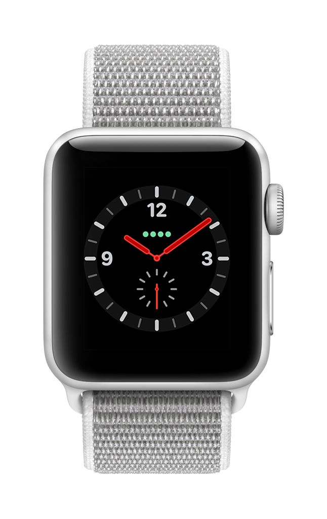 Apple Watch series 3 - 42MM - Silver  Grey Aluminium Case - Seashell Sport Loop