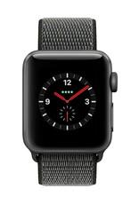 Apple Watch series 3 - 42MM - Space Grey Aluminium Case - Dark Olive Sport Loop