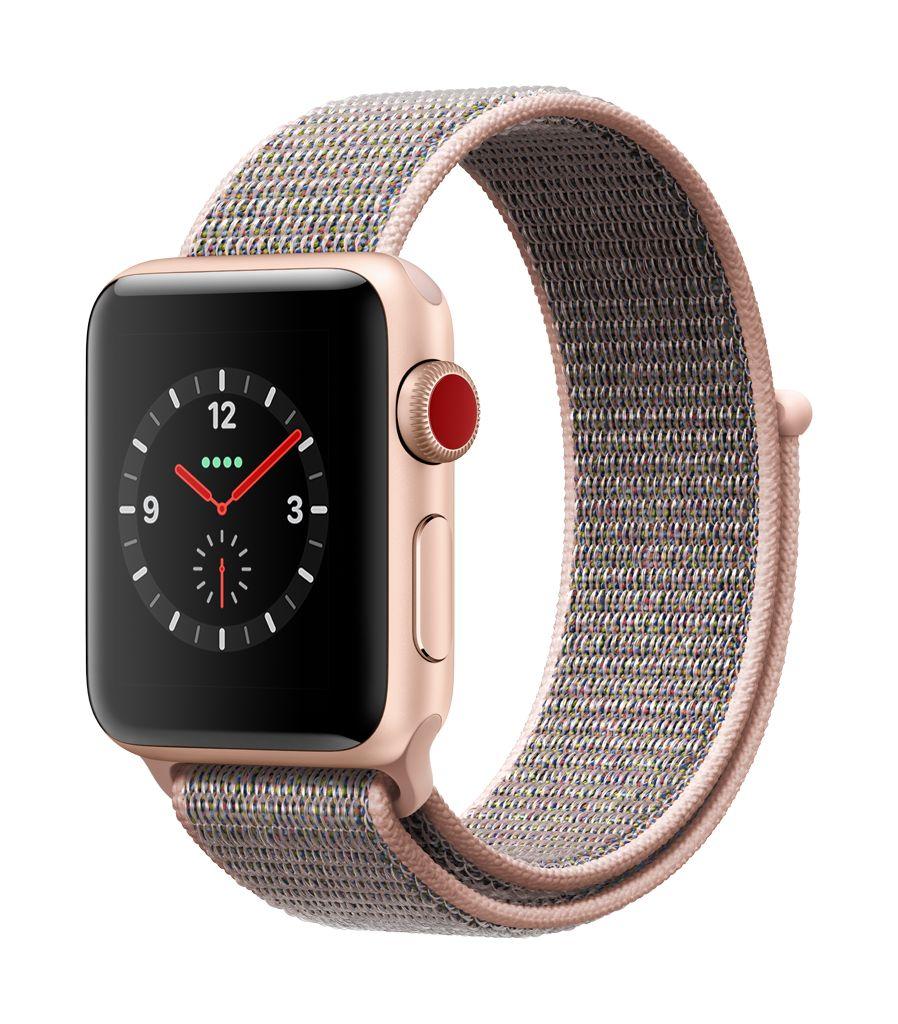 Apple Watch series 3 - 42MM - Gold Aluminium Case - Pink Sand Sport Loop