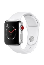 Apple Watch series 3 - 42MM -  Stainless Steel Case - Soft White Sport Band