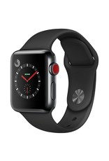 Apple Watch series 3 - 42MM - Space Black Stainless Steel Case - Balck Sport Band