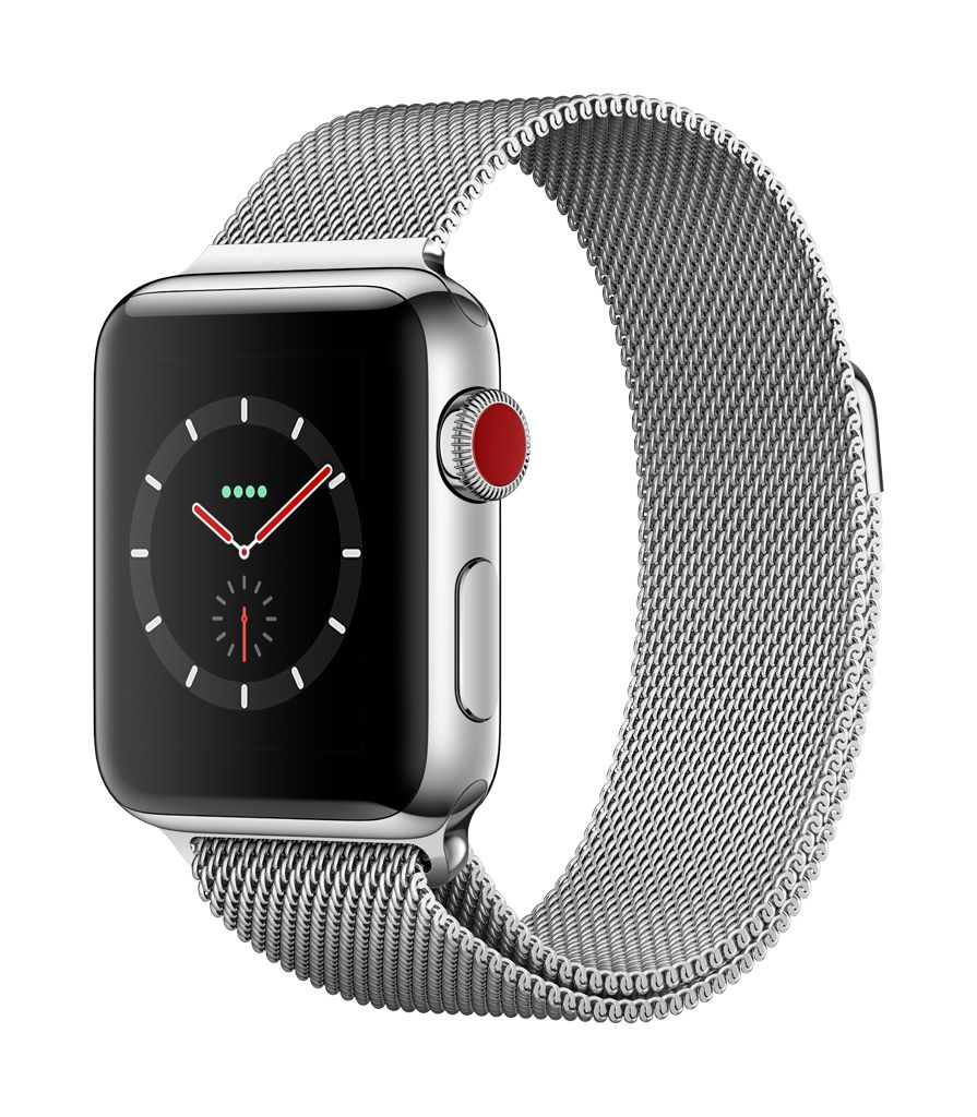 Apple Watch series 3 - 42MM - Stainless Steel Case - Milanese Loop